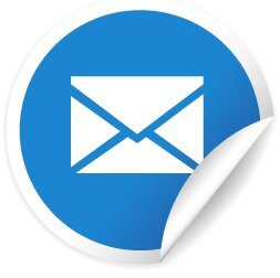 EMAIL getting in touch blue contact vector