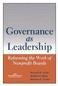 Governance as Leadership book