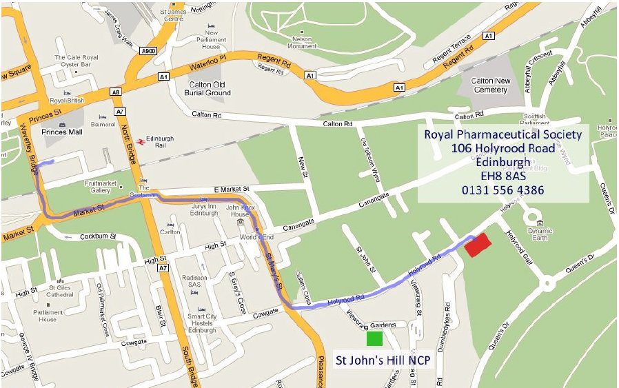 Directions to and from Holyrood Park House