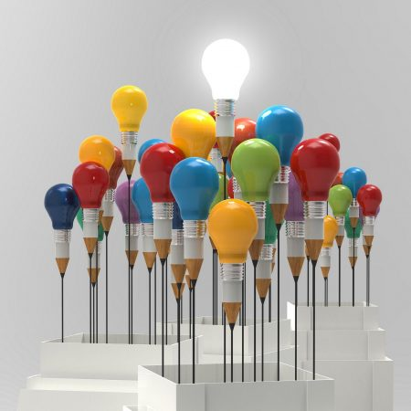Sponsorship image - bright lightbulbs